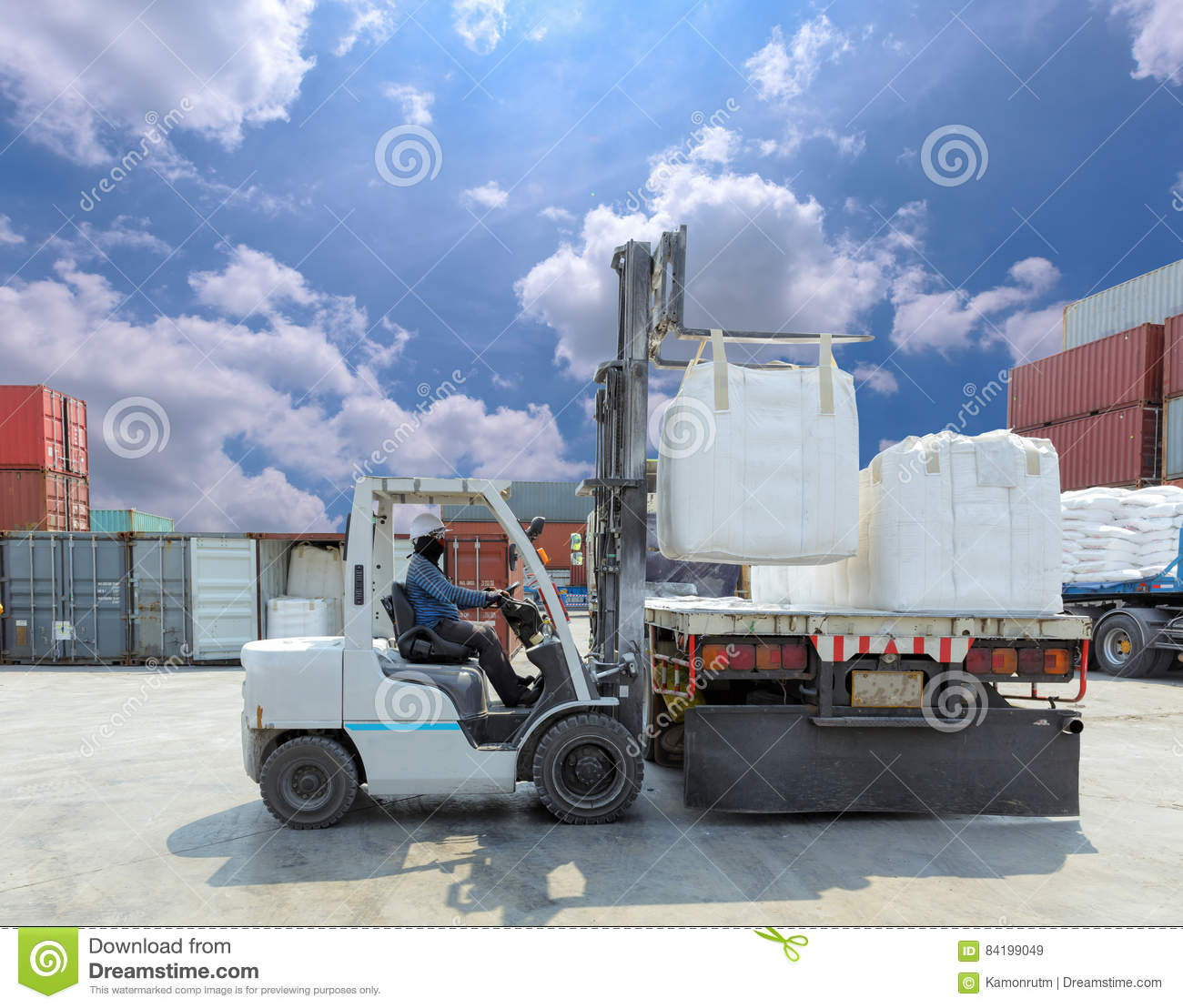 Select location type business with dock or forklift business without - Royalty Free Stock Photo