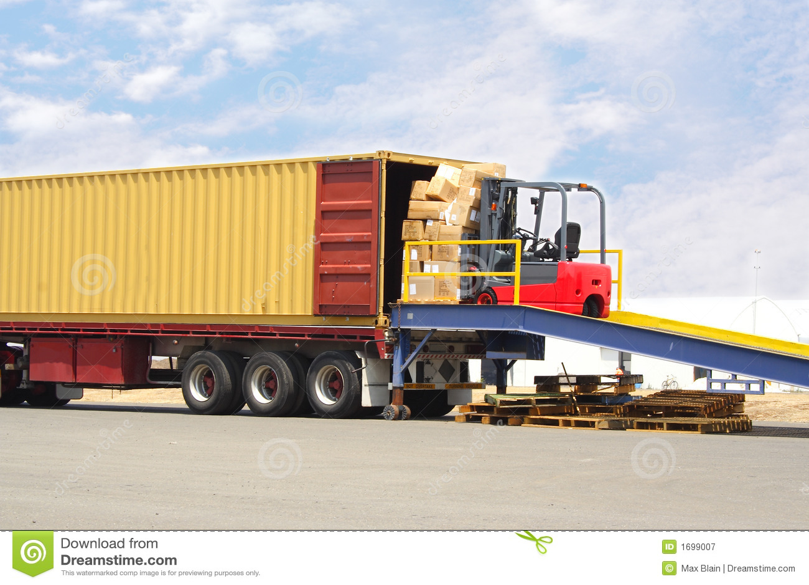 Forklift e doca