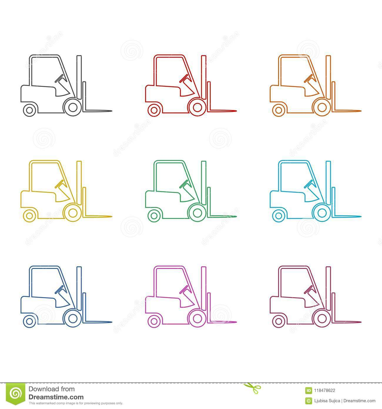 Simple Fork Lift Diagram Reinvent Your Wiring For Hyster 50 Forklift Icon Truck Side Silhouette Color Icons Set Stock Rh Dreamstime Com S50xm