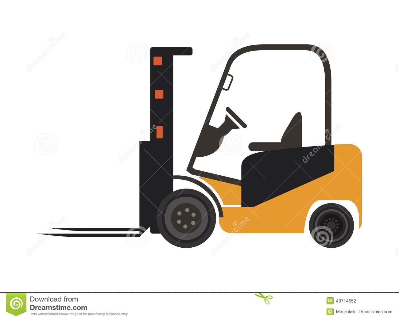 Forklift Icon Stock Vector - Image: 48714652