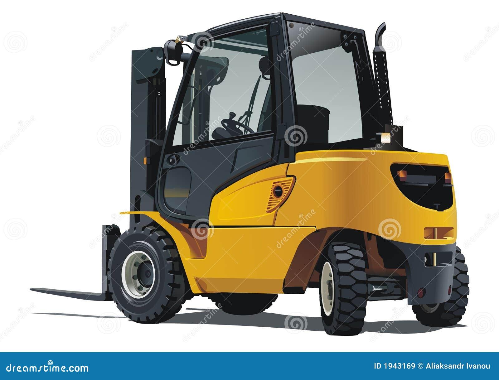Forklift isolado