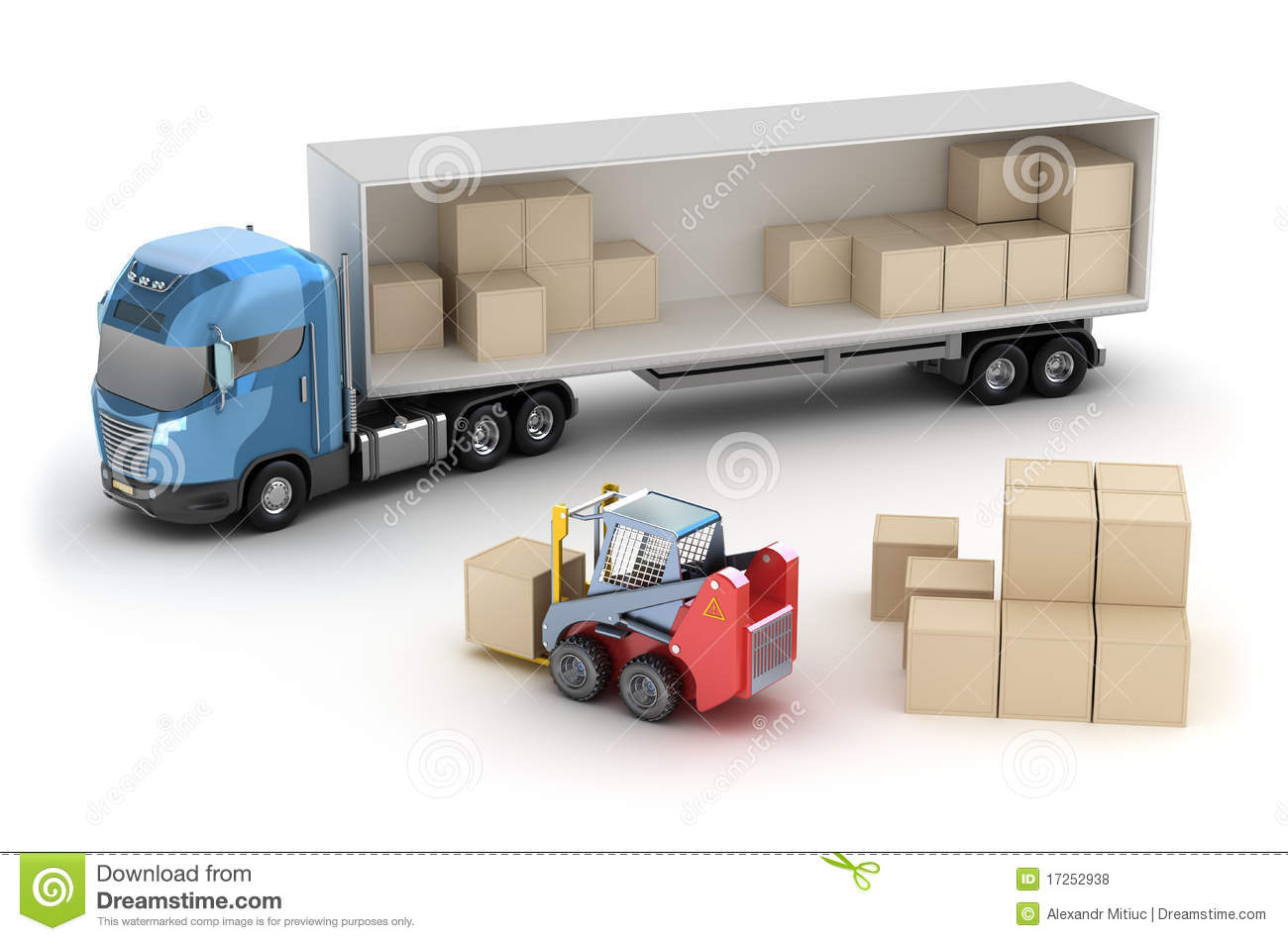 Forklift is loading the truck