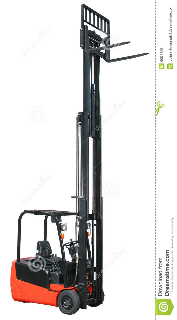 Forklift from my warehouse equipment series royalty free for Serie warehouse