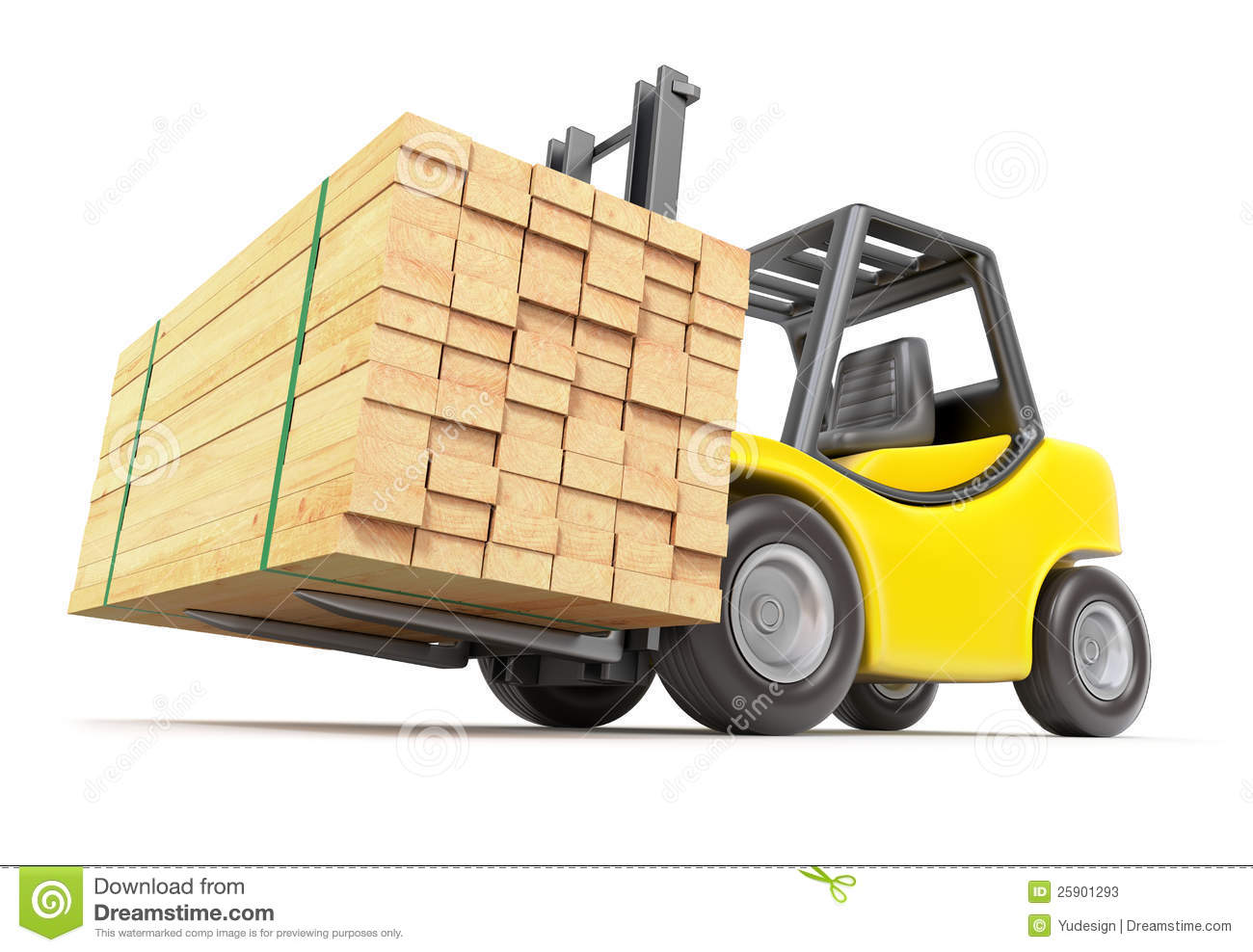 Forklift With Stacked Lumber Stock Photos - Image: 25901293