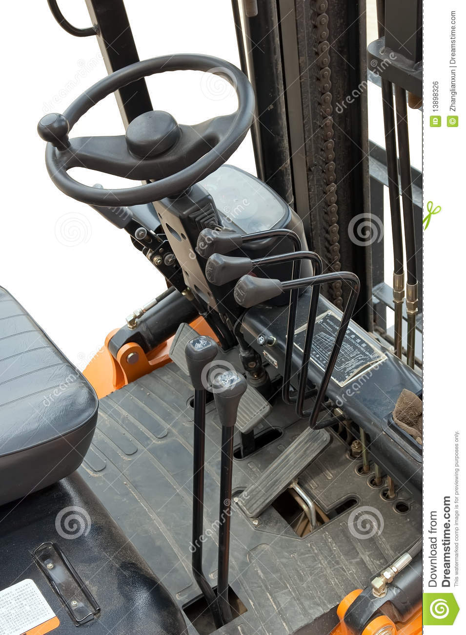 Fork Lift Foot : Forklift truck cab royalty free stock image