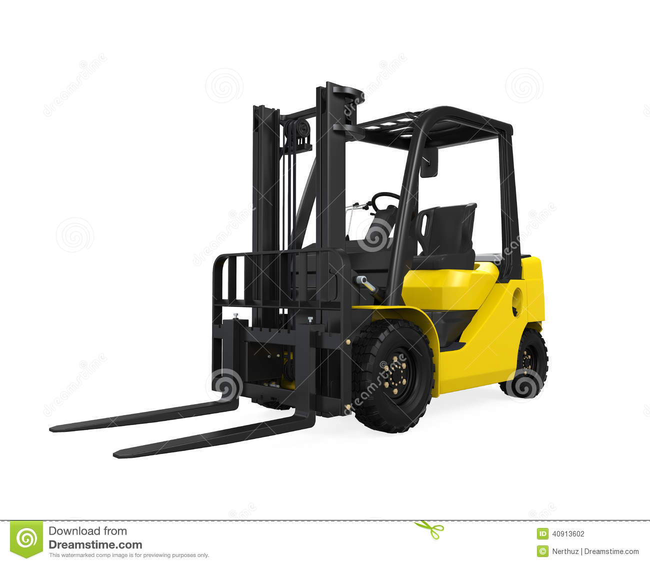 Download Forklift Truck stock photo. Image of activity, metal - 40913602