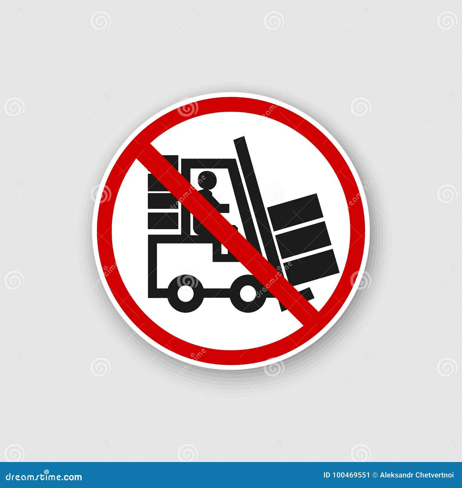 forklift truck sign symbol of threat alert hazard. Black Bedroom Furniture Sets. Home Design Ideas