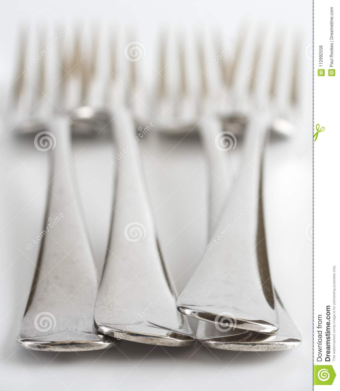 Forks on the table, selective focus