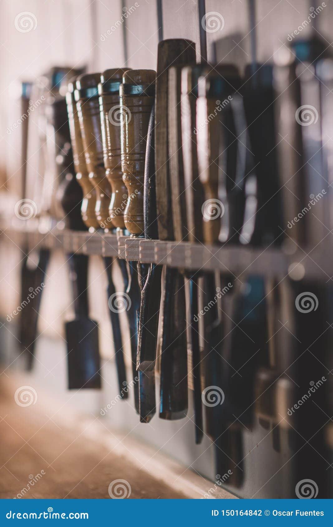 Formão para a madeira, ferramentas mais luthier para trabalhar