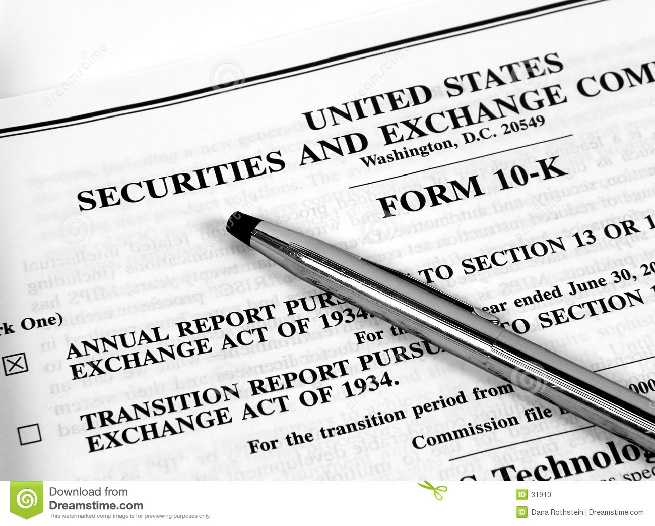 Form 10-K stock photo. Image of banking, corporate, financials - 31910