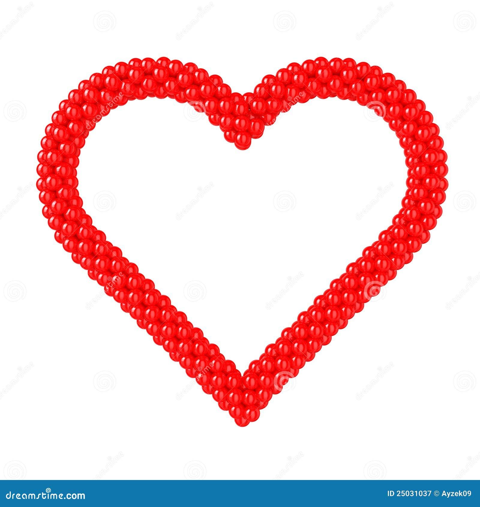 Form för ballongramhjärta