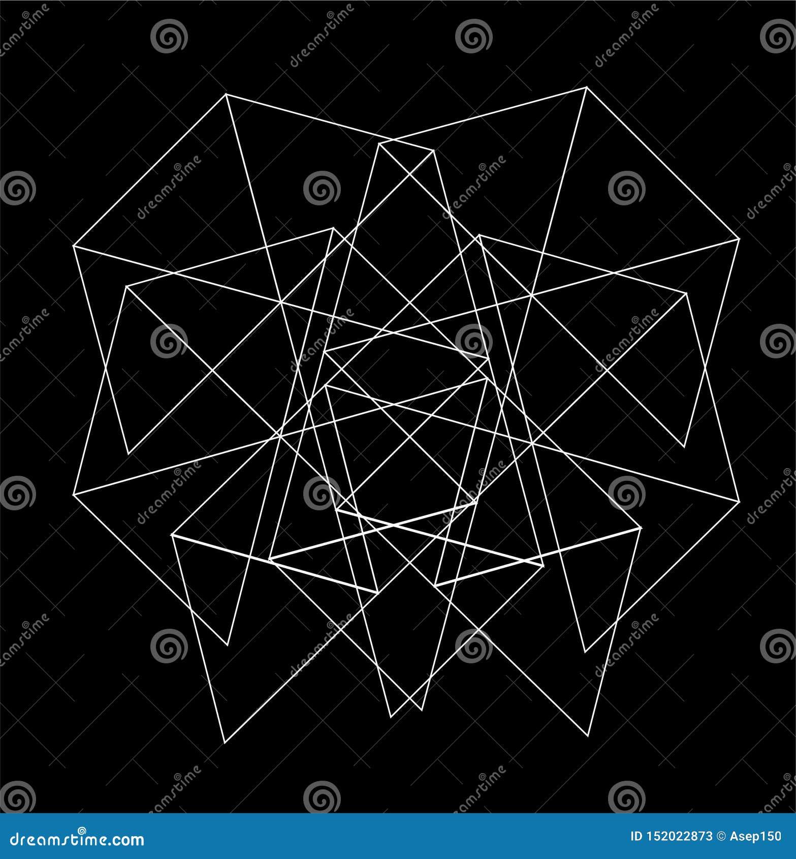 Form för NÄTVERK för triangelmodell sexhörnig för tapet och abstrakt bakgrund