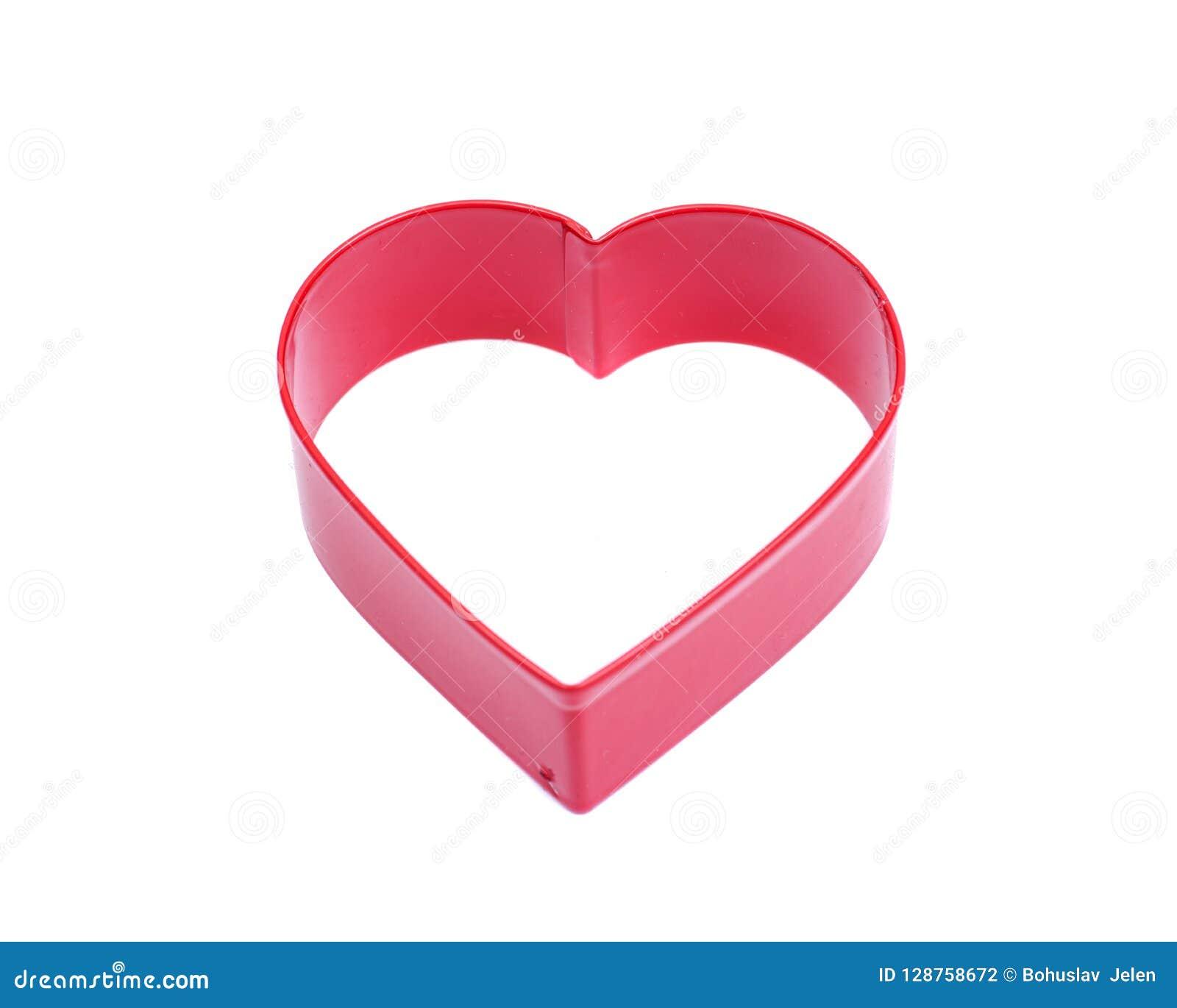 Form för skärare för kaka för hjärtaShape fördjupning plast- för att dekorera för bakning för kakabakelseefterrätt som isoleras p