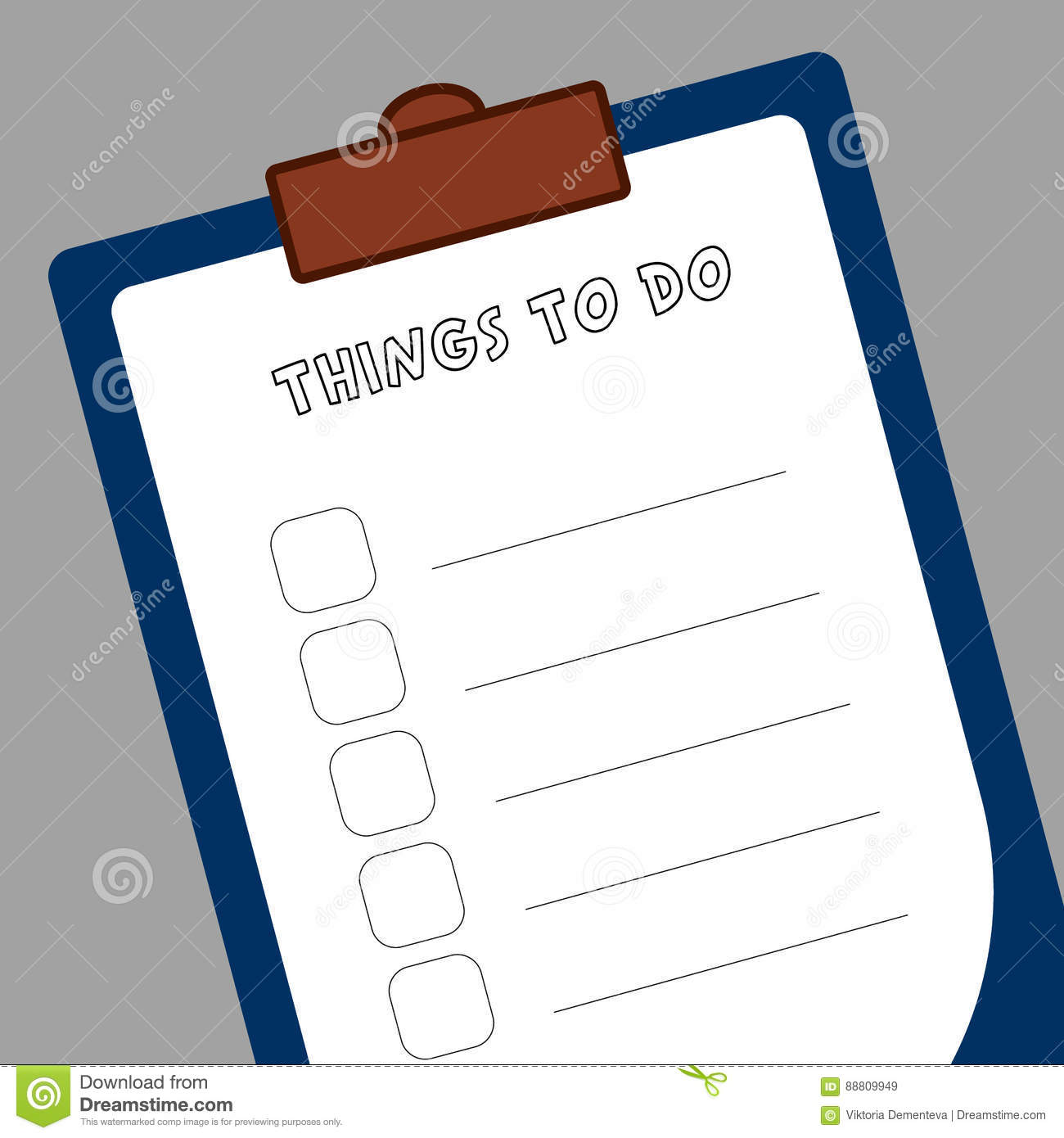 form to do list a tablet of white paper to make notes stock