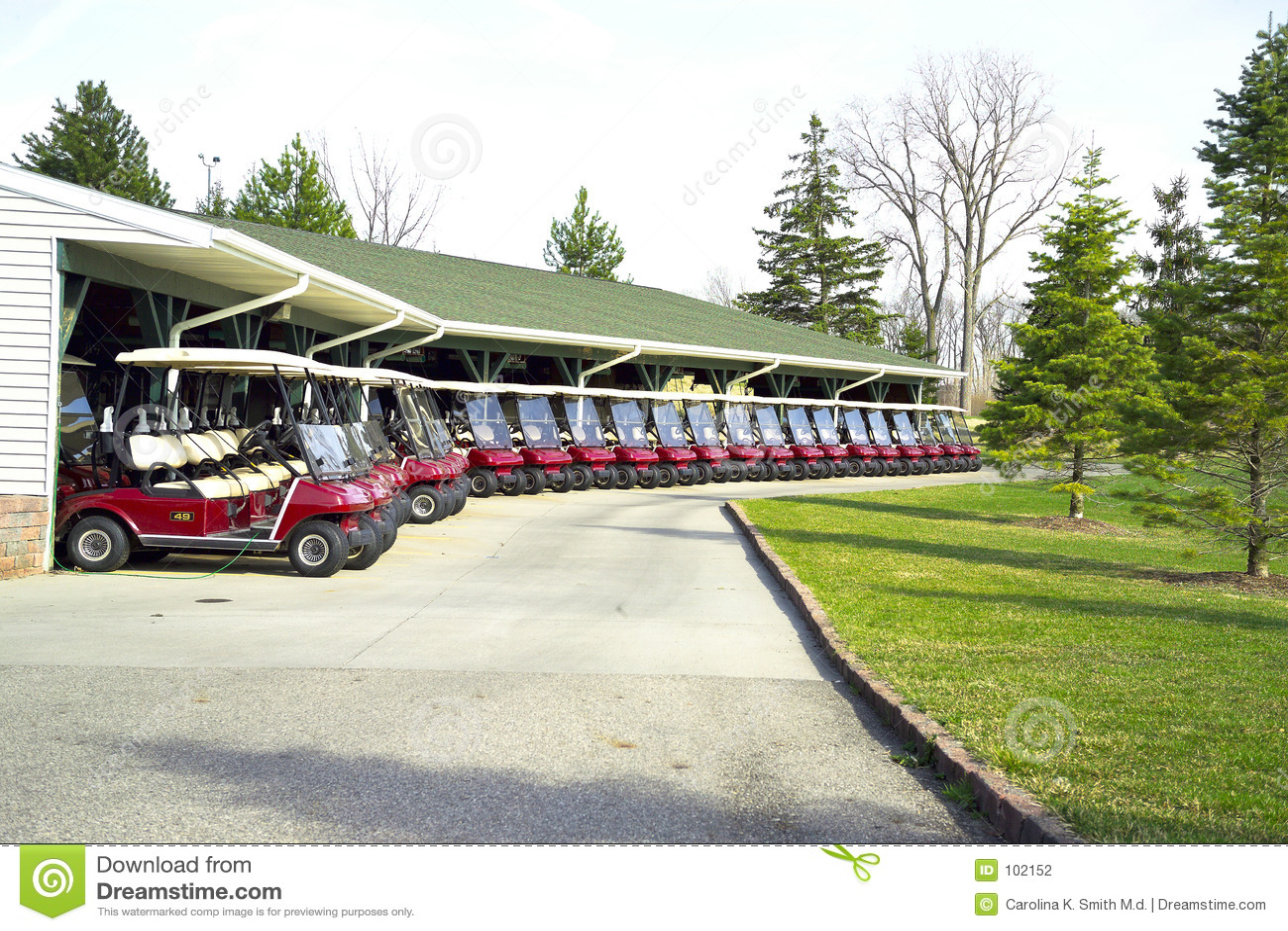 Formação do carro de golfe
