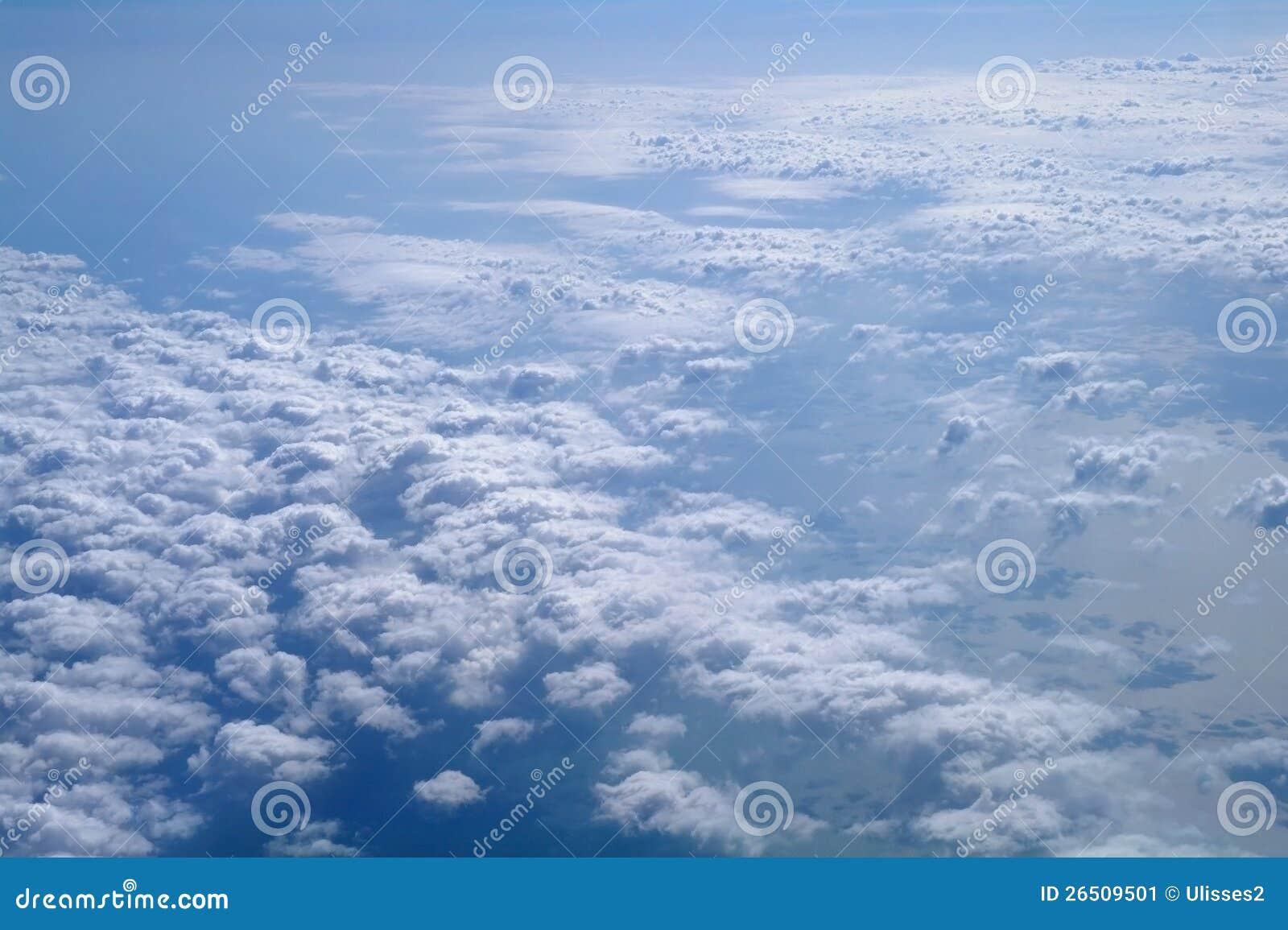 Formações da nuvem.