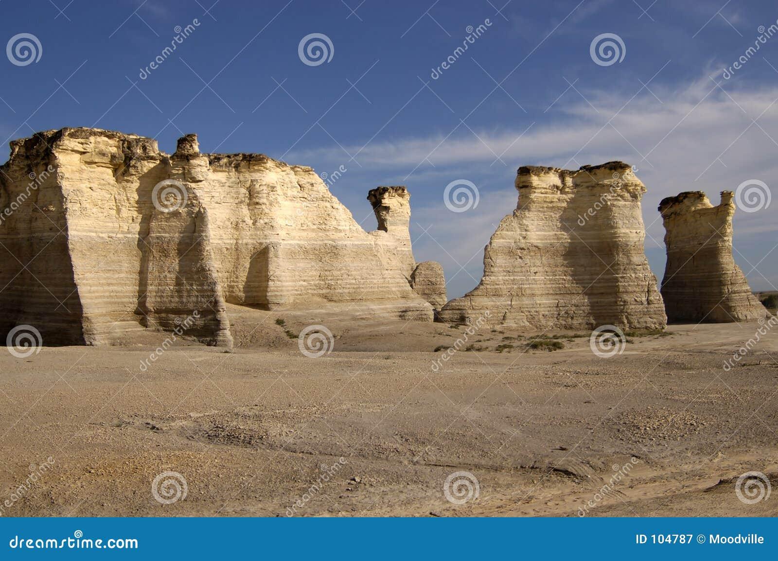 Formações de rocha da pedra calcária