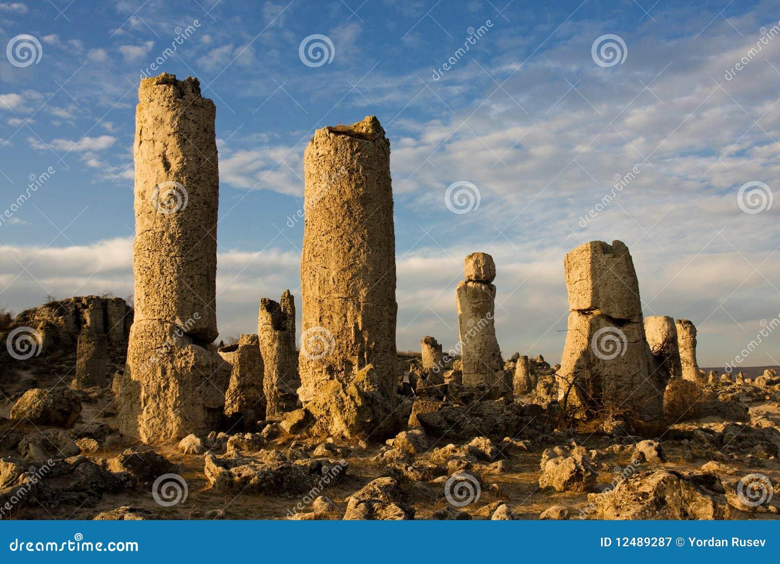 Formações de rocha do fenômeno