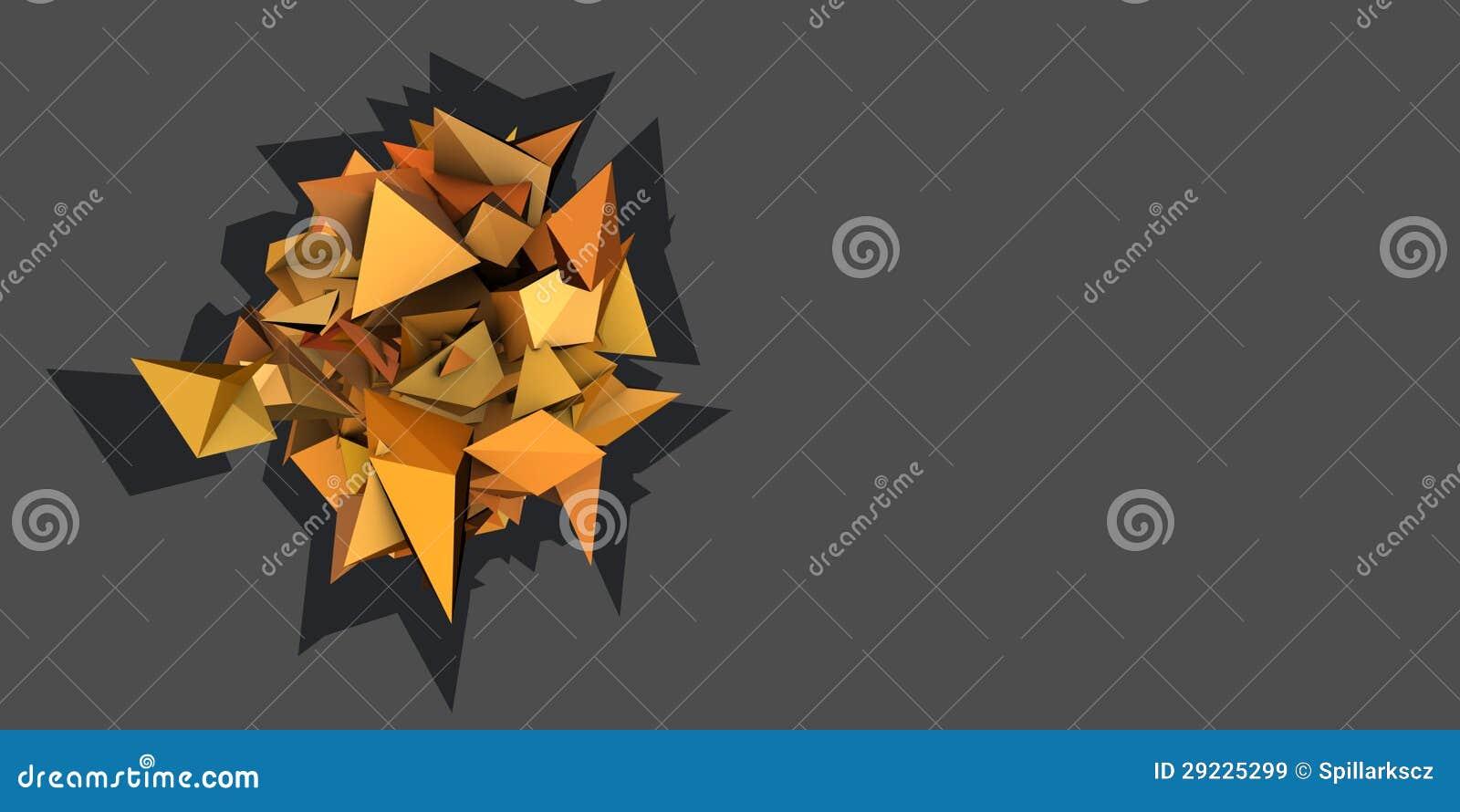 Download Forma 3d Elétrica Cravada Alaranjada Abstrata Ilustração Stock - Ilustração de conceito, sculpt: 29225299