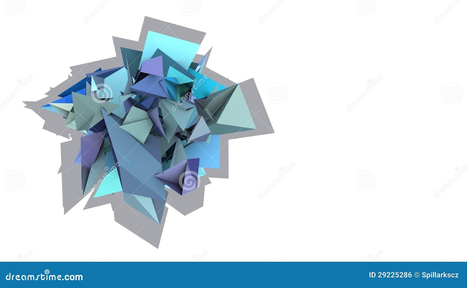 Download Forma 3d Elétrica Cravada Azul Abstrata Com Sombra Ilustração Stock - Ilustração de roxo, instalação: 29225286
