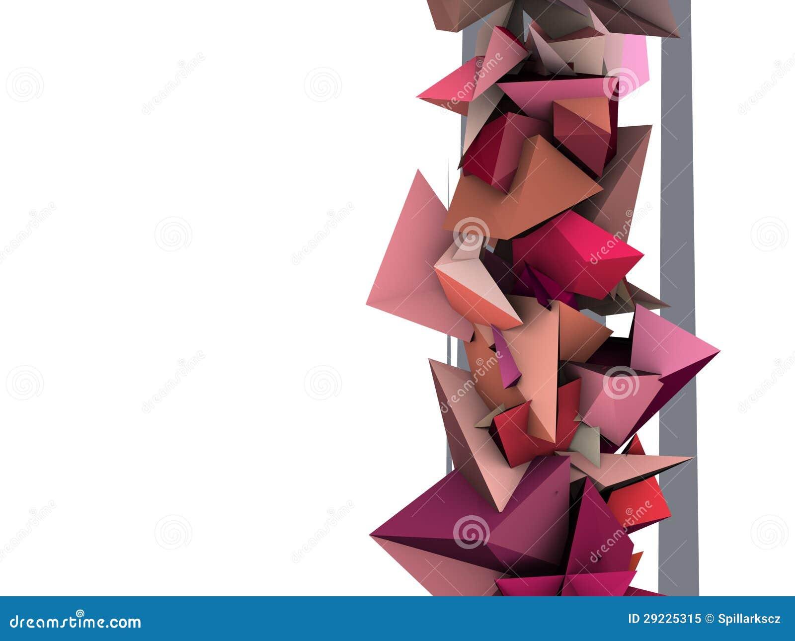 Download Forma 3d Elétrica Cravada Cor-de-rosa Abstrata Ilustração Stock - Ilustração de cubism, artístico: 29225315