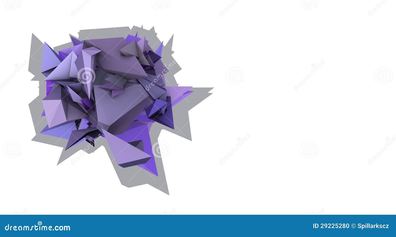 Download Forma 3d Elétrica Cravada Roxa Abstrata Ilustração Stock - Ilustração de contemporary, projeto: 29225280
