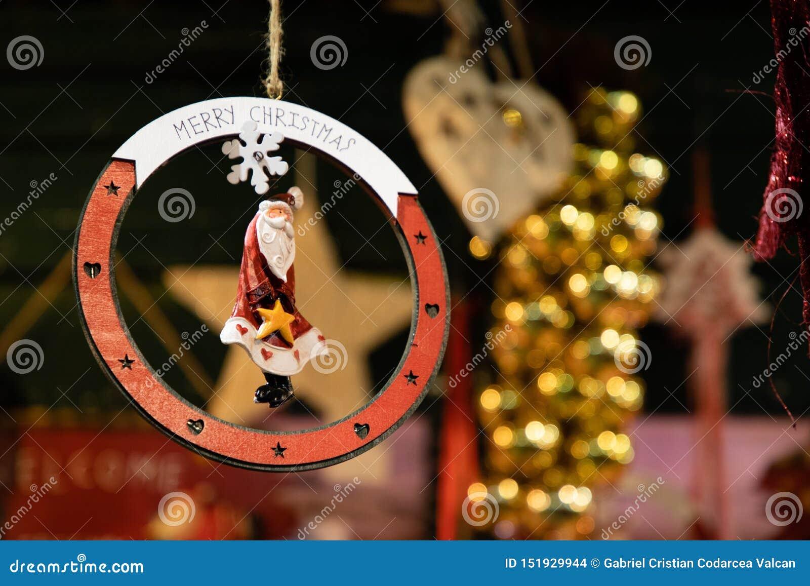 Forma da decoração da estrela da árvore de Natal
