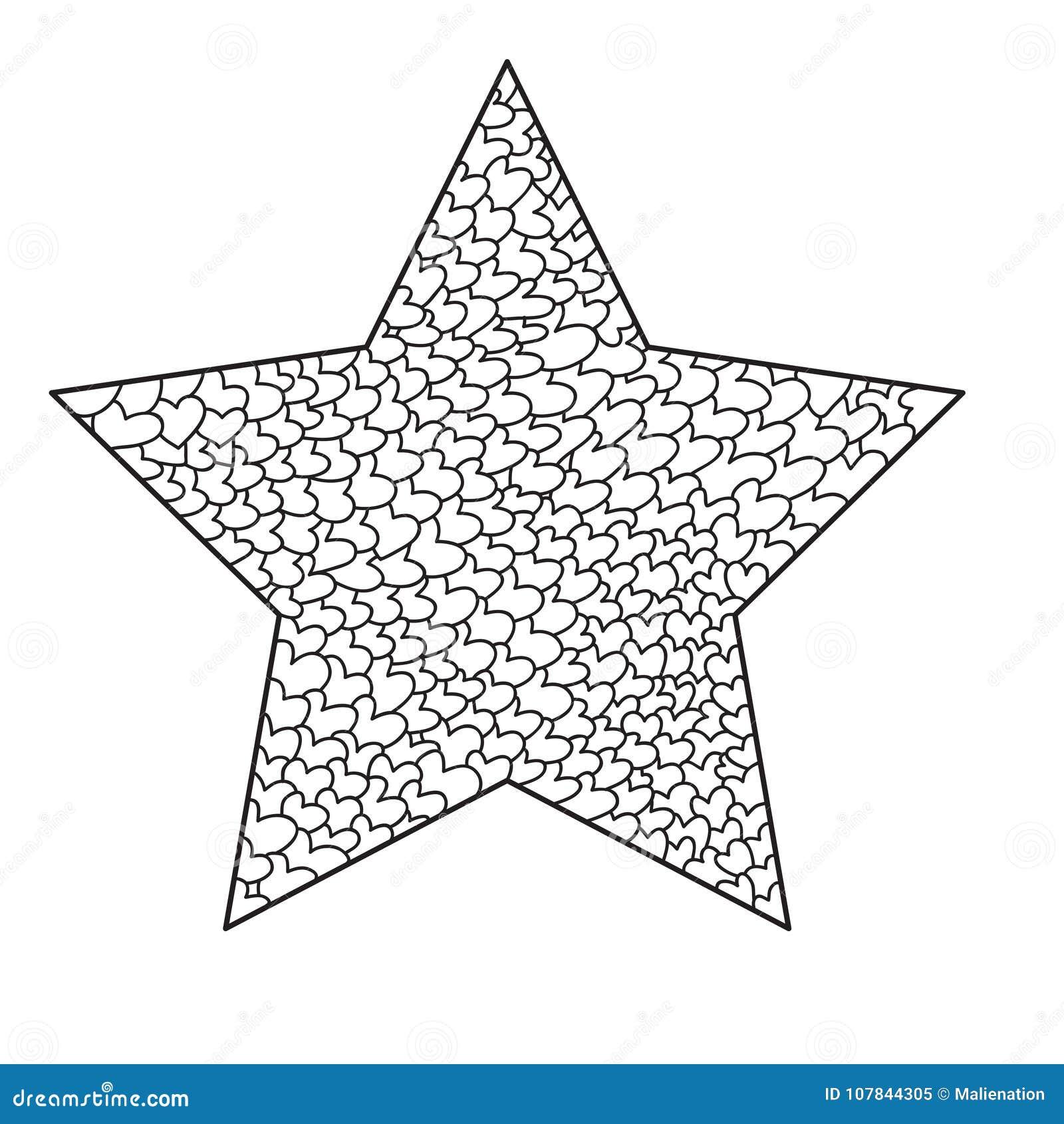 Forma De La Estrella De La Mandala Aislada En El Fondo Blanco Libro