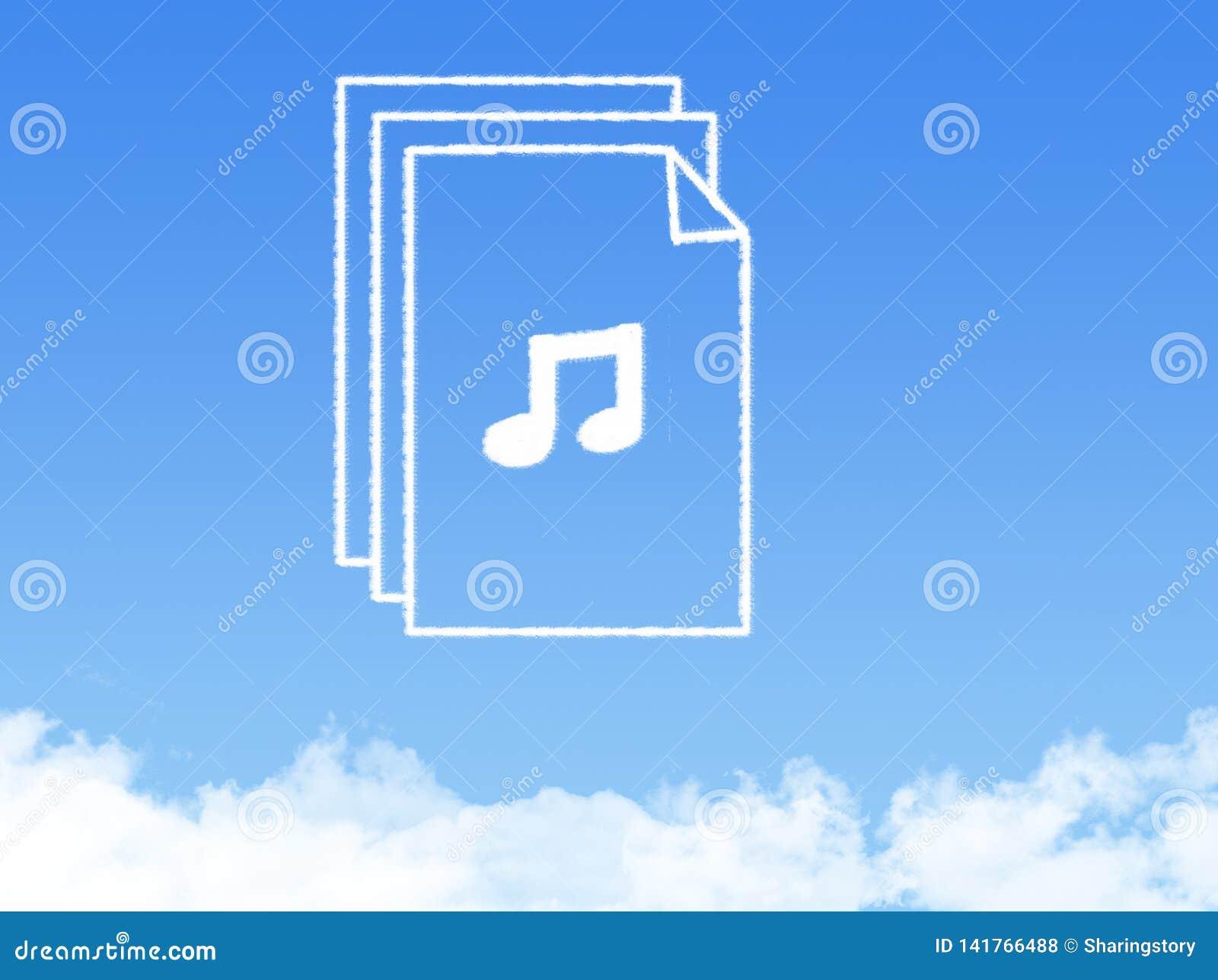 Forma de la nube del documento de papel de la libreta