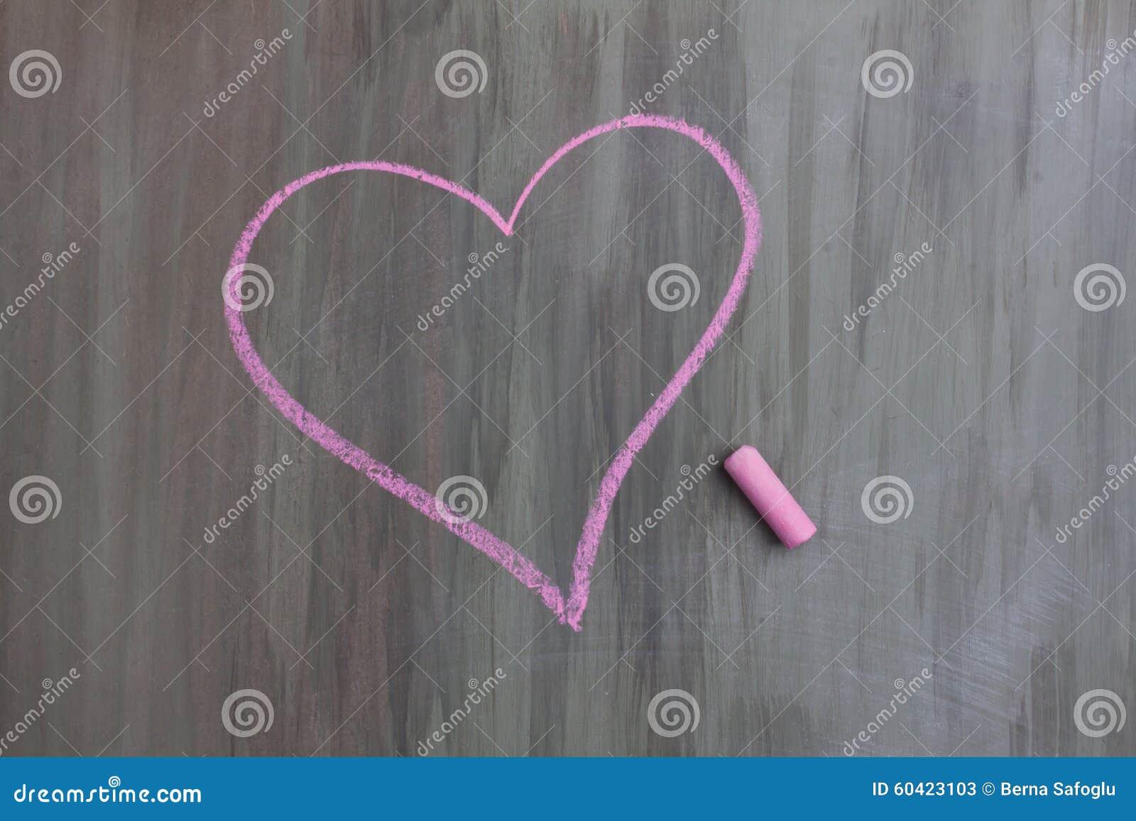 Forma del cuore del disegno di gesso