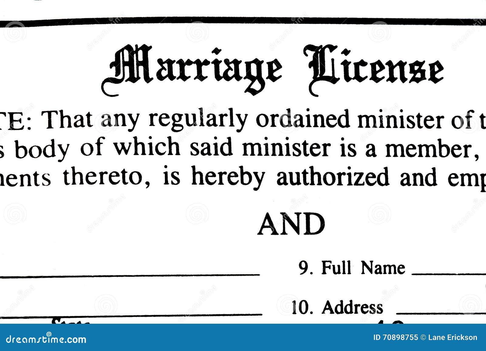 Forma del permiso de matrimonio