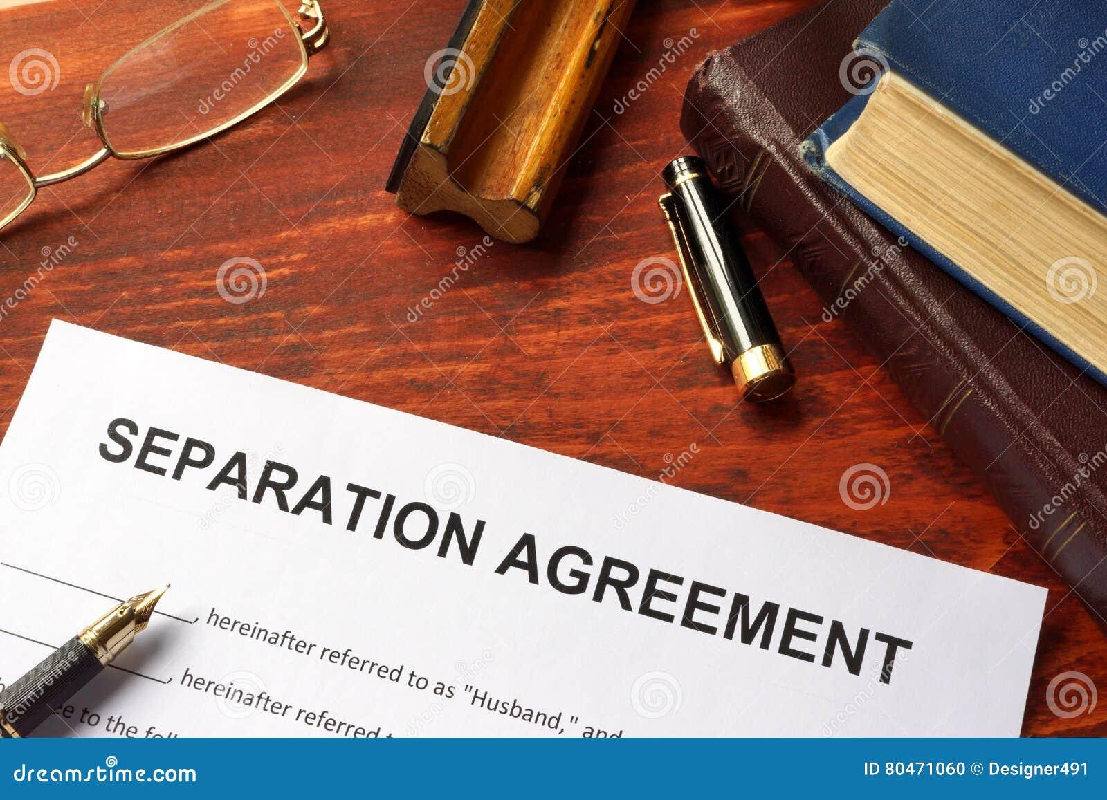 Forma di accordo di separazione
