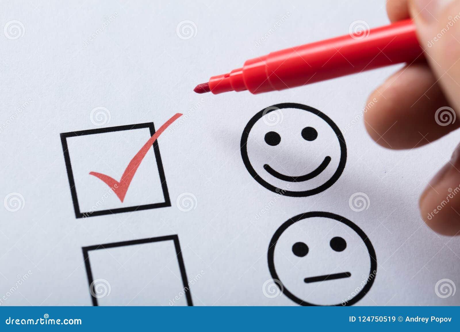 Forma di indagine di soddisfazione di Tick Placed In Customer Service