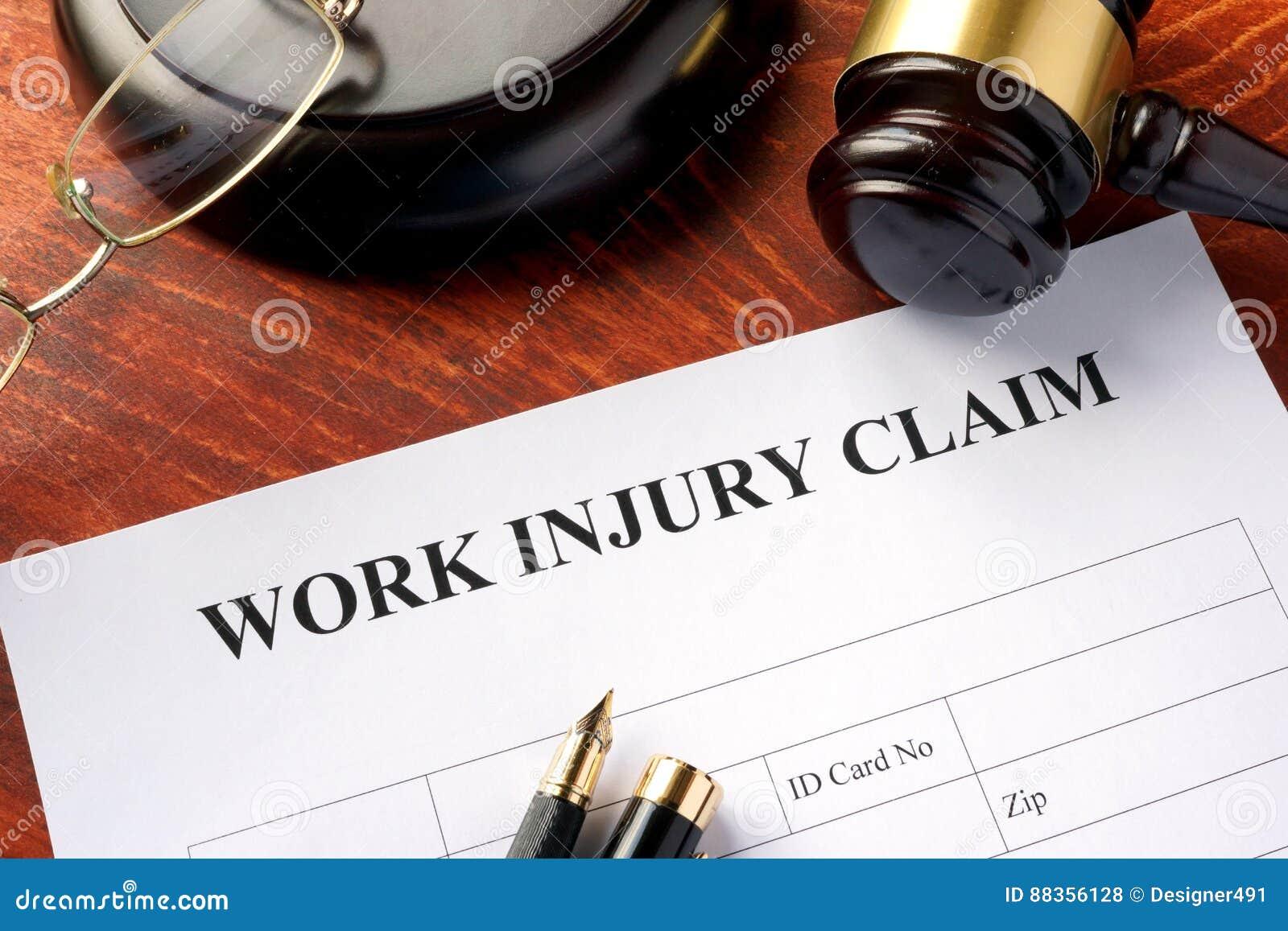 Forma di reclamo di lesione di lavoro