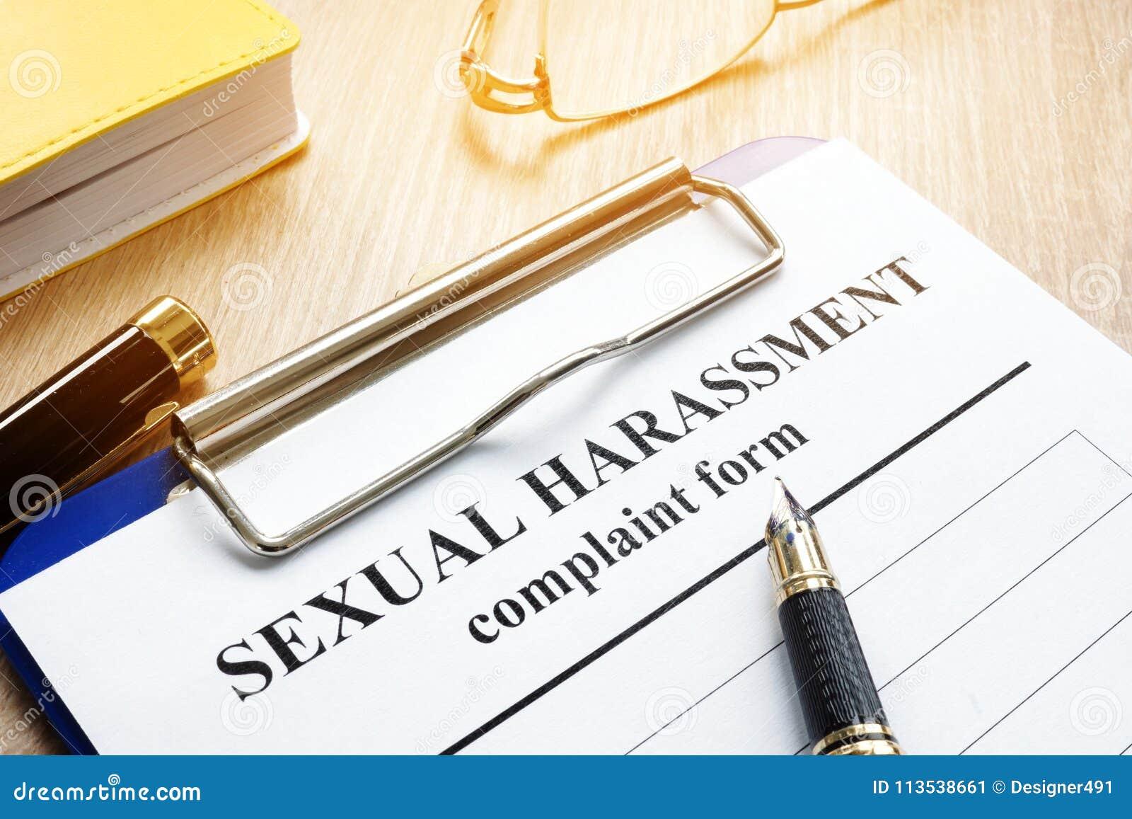 Forma di reclamo di molestia sessuale