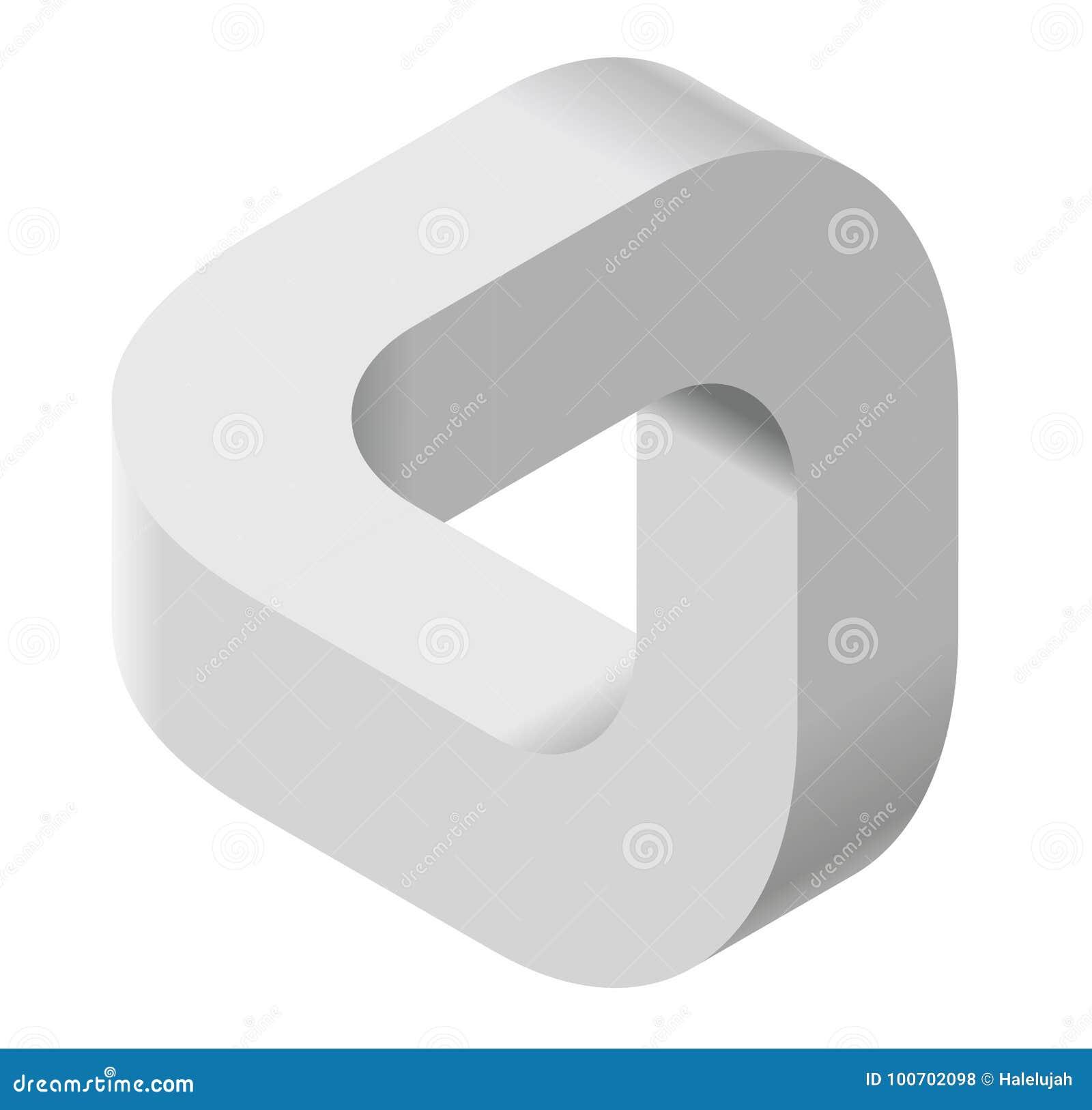Forma di vettore di curvatura dell estratto Marca isometrica di istituzione scientifica, centro di ricerca, laboratori biologici