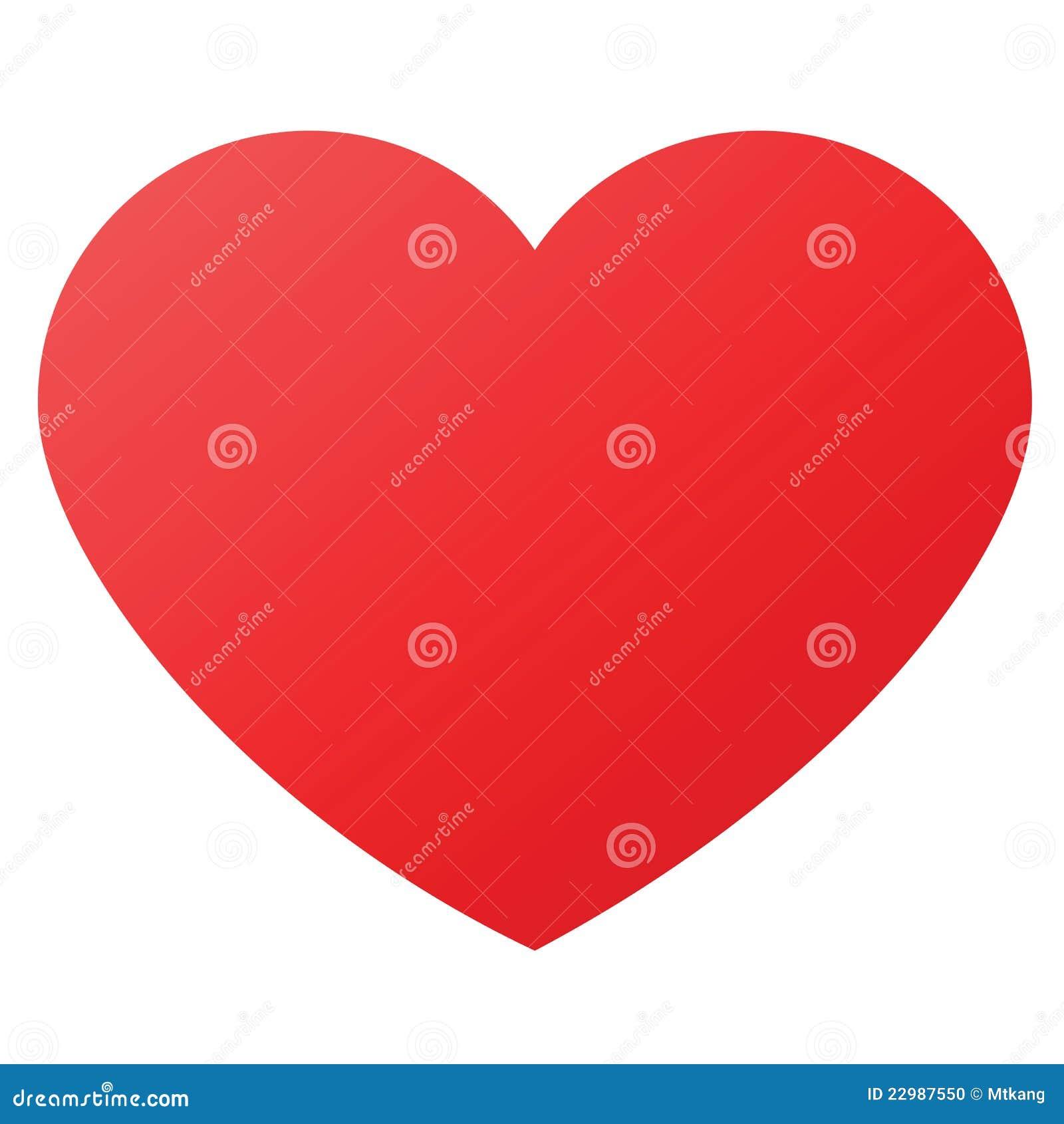 Forma do coração para símbolos do amor