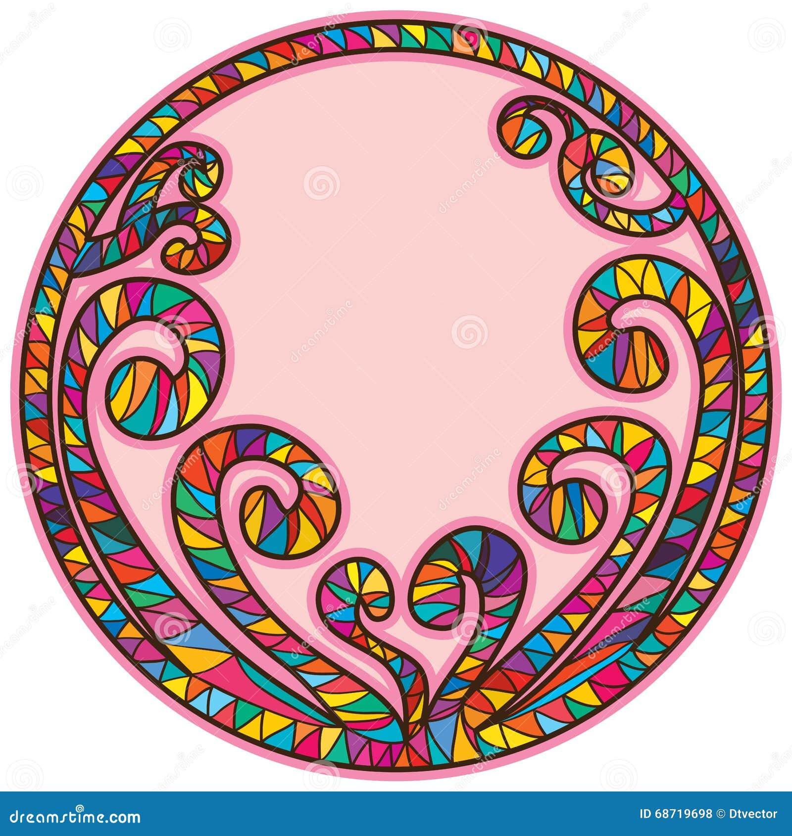 Forma Espiral Del Círculo Del Marco Del Palillo Ilustración del ...