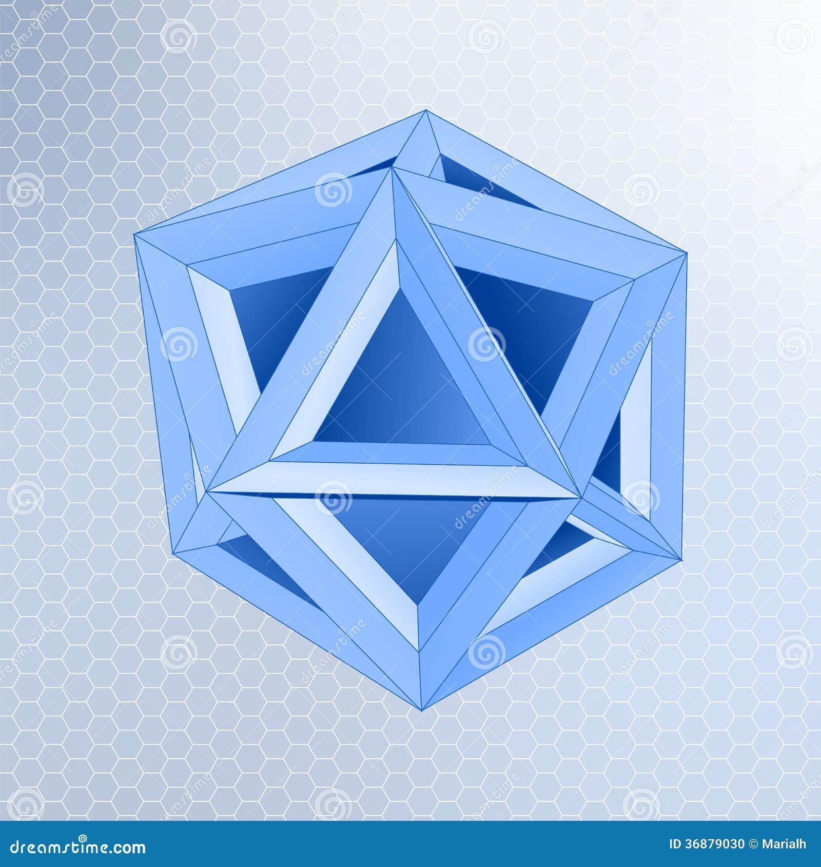 Download Forma geometrica astratta illustrazione vettoriale. Illustrazione di gruppo - 36879030