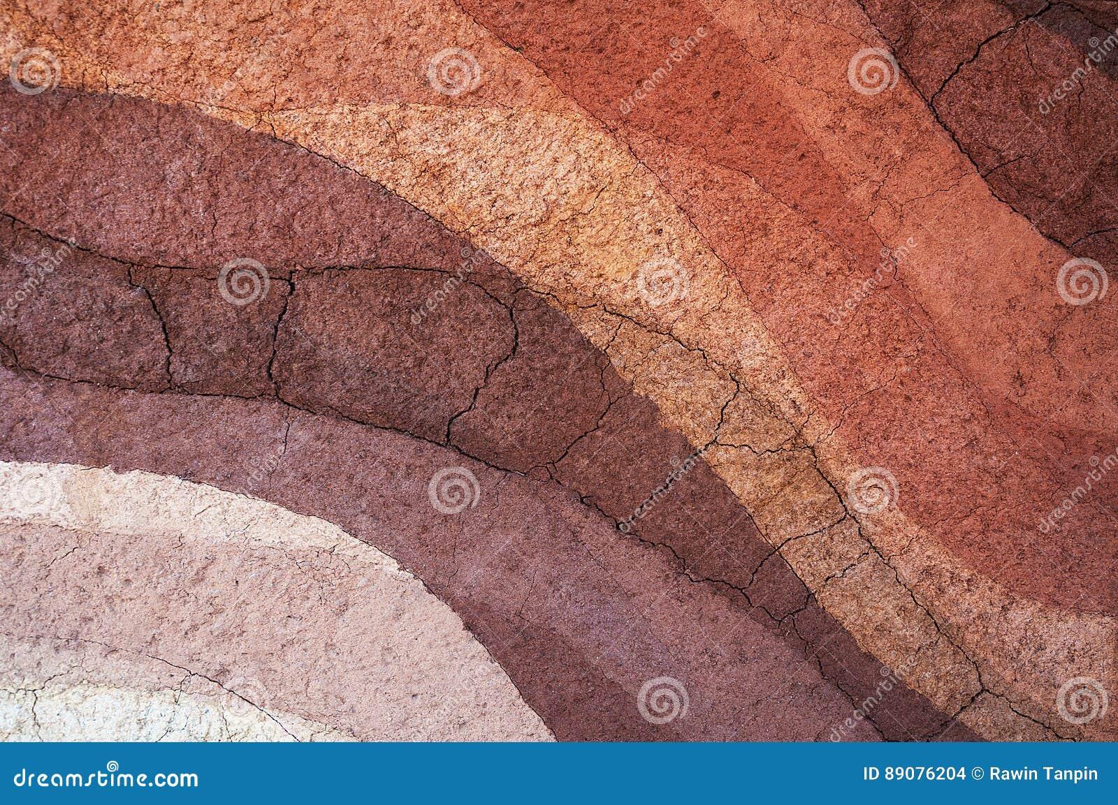 Forma glebowe warstwy, swój colour i tekstury,