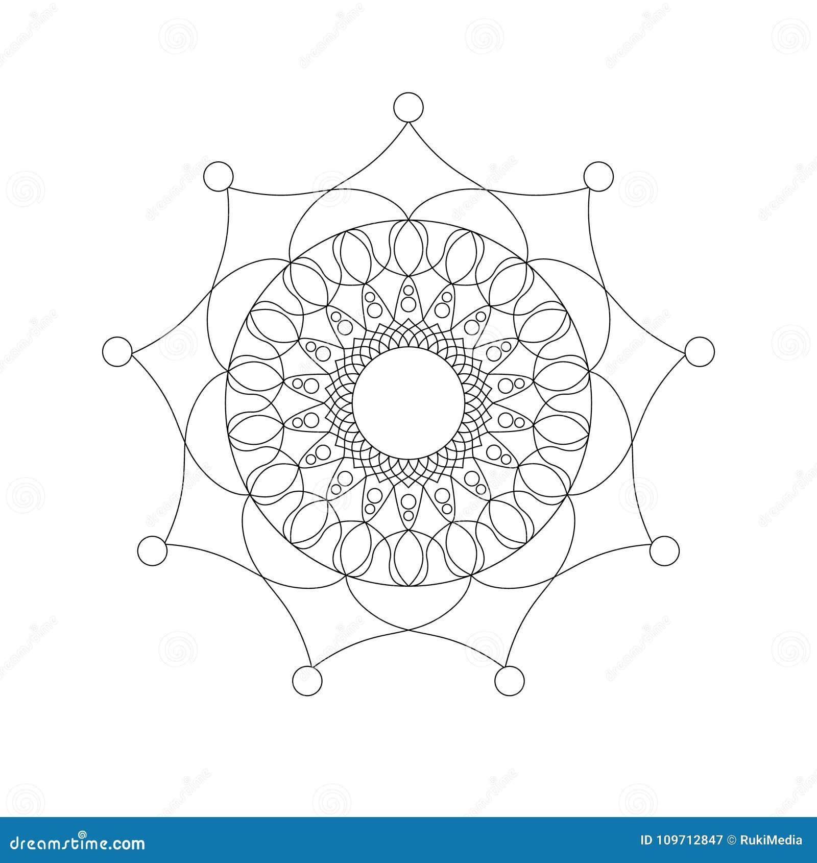 Forma Simple Aislada De La Mandala Ilustración del Vector ...