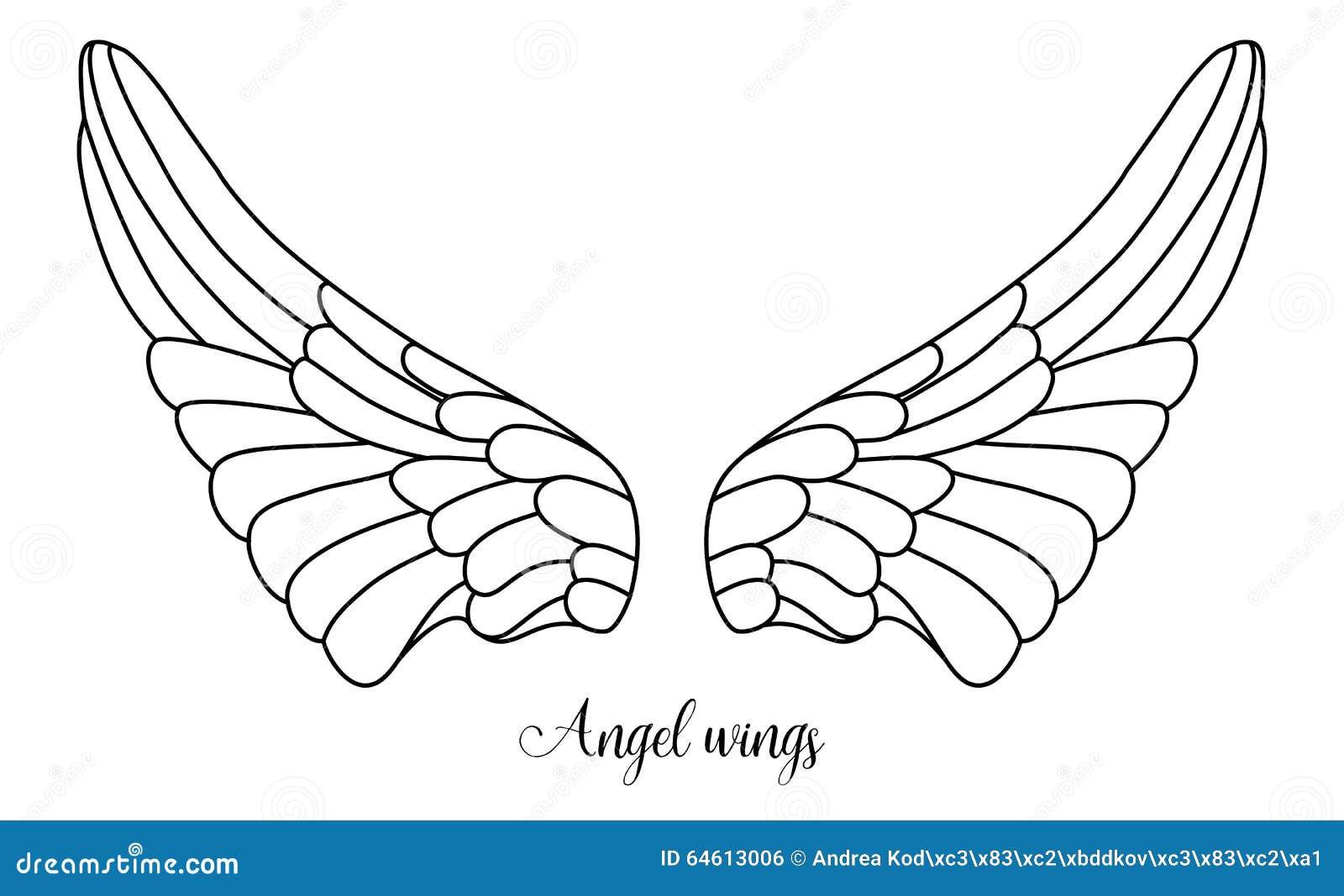 A forma simples do anjo voa, linha preta no branco