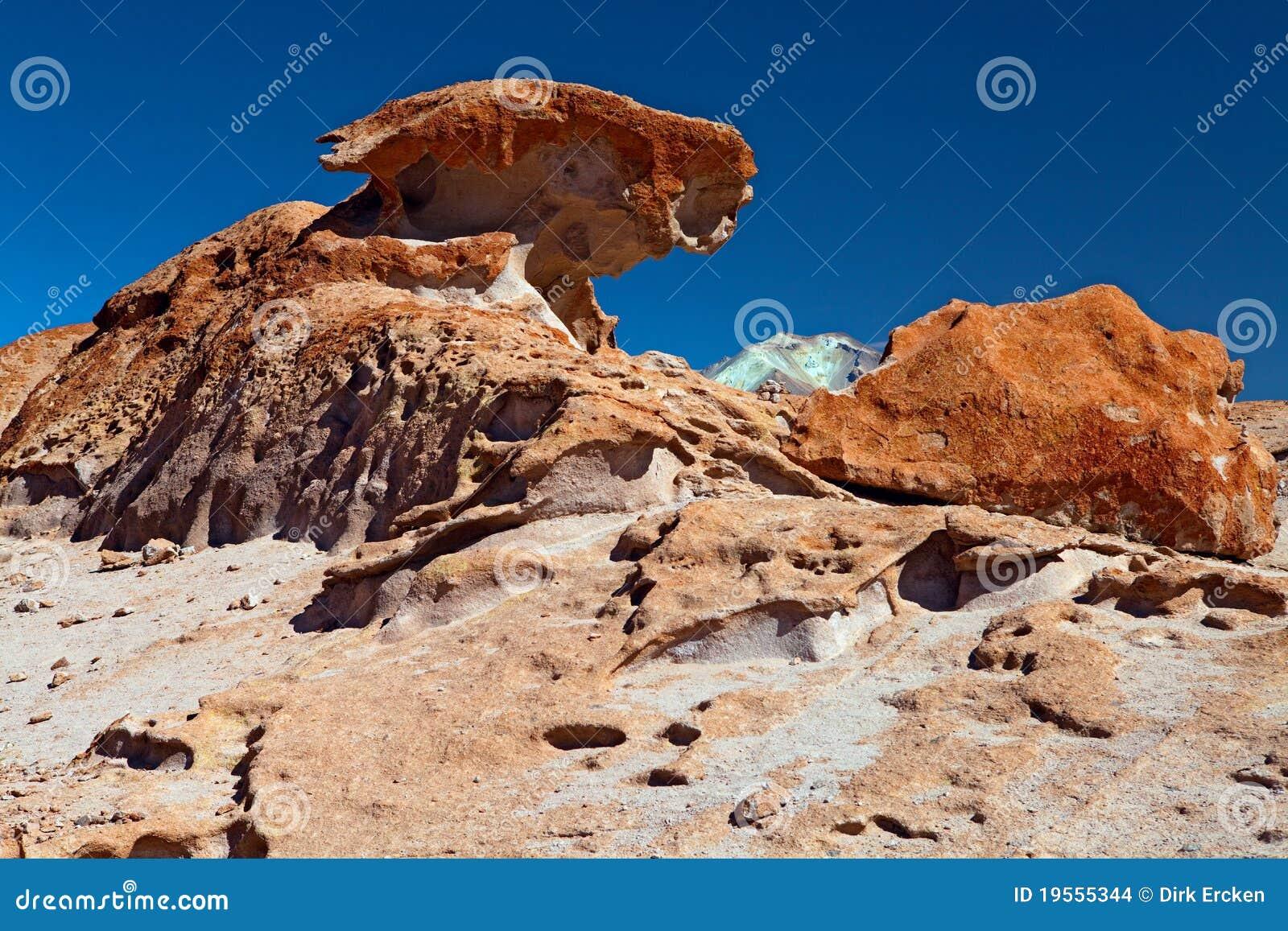 Formaci n de roca coloreada formada por la erosi n de for Formacion de la roca