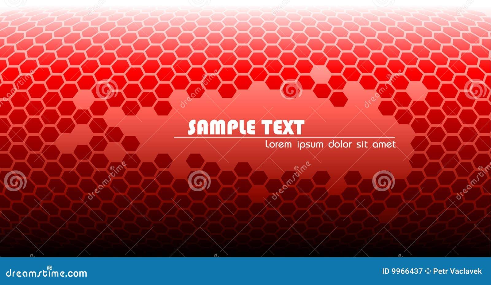 Formación técnica roja abstracta