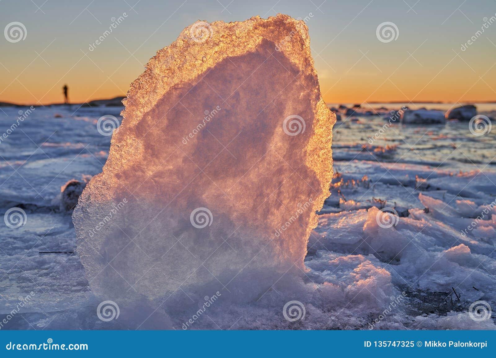 Formaciones de hielo por el mar Báltico