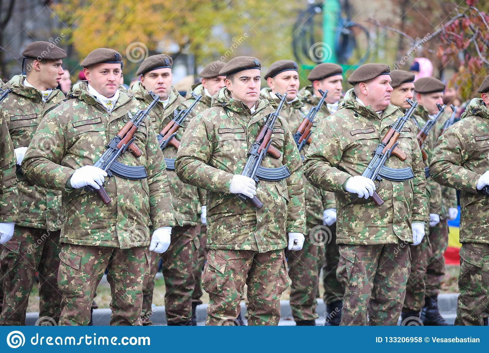 12/01/2018 - Formaciones militares que celebran el día nacional rumano en Timisoara, Rumania