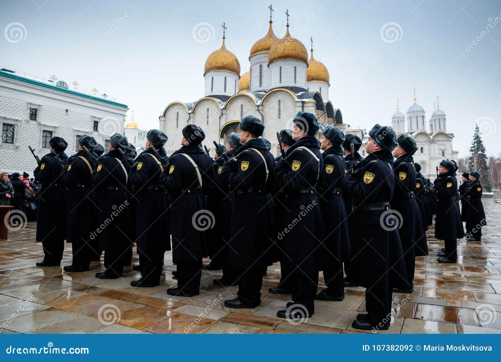 Formacja Prezydencki pułk usługa Moskwa Kremlin's Commandant