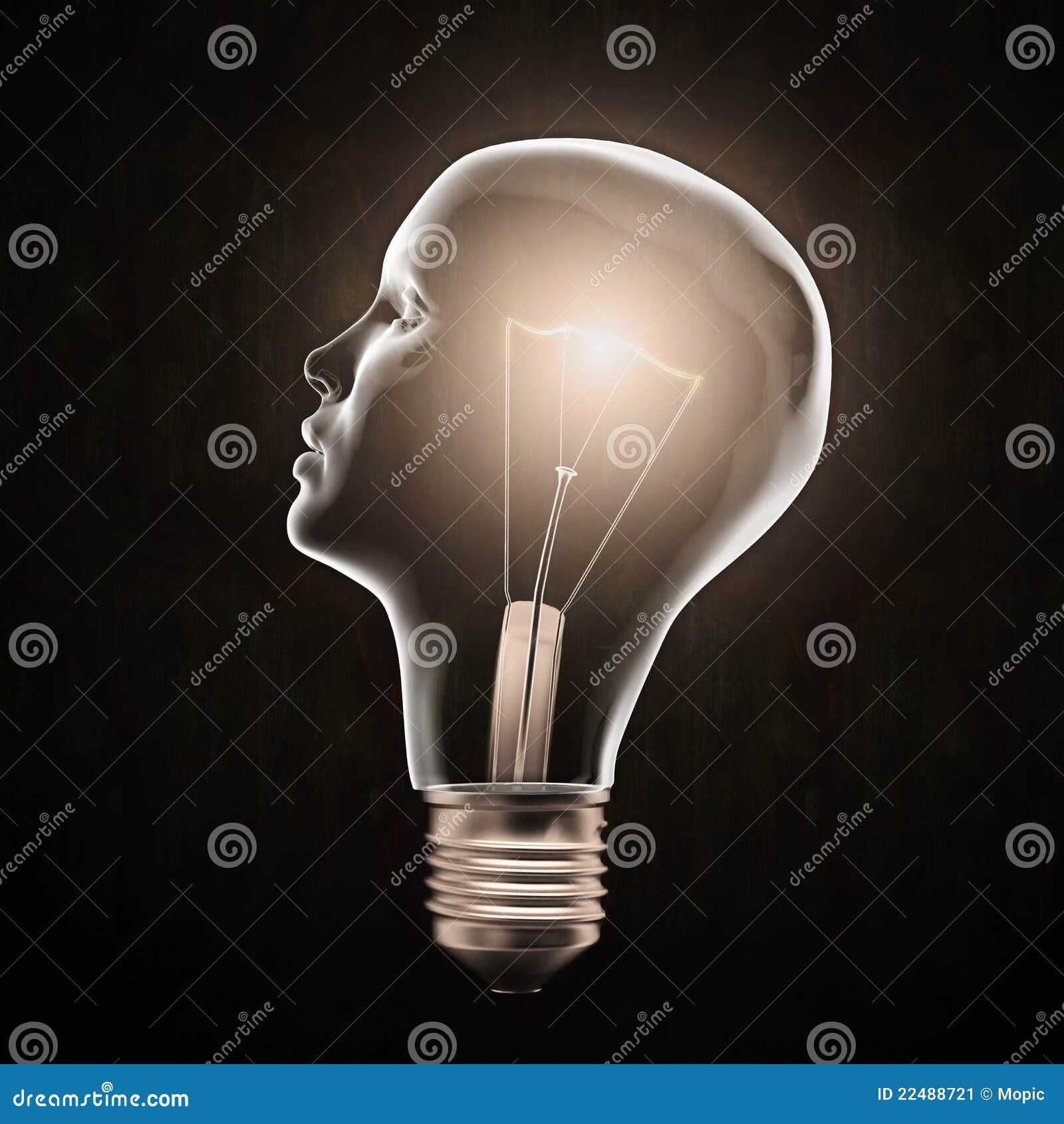 Formad head lampa för kula