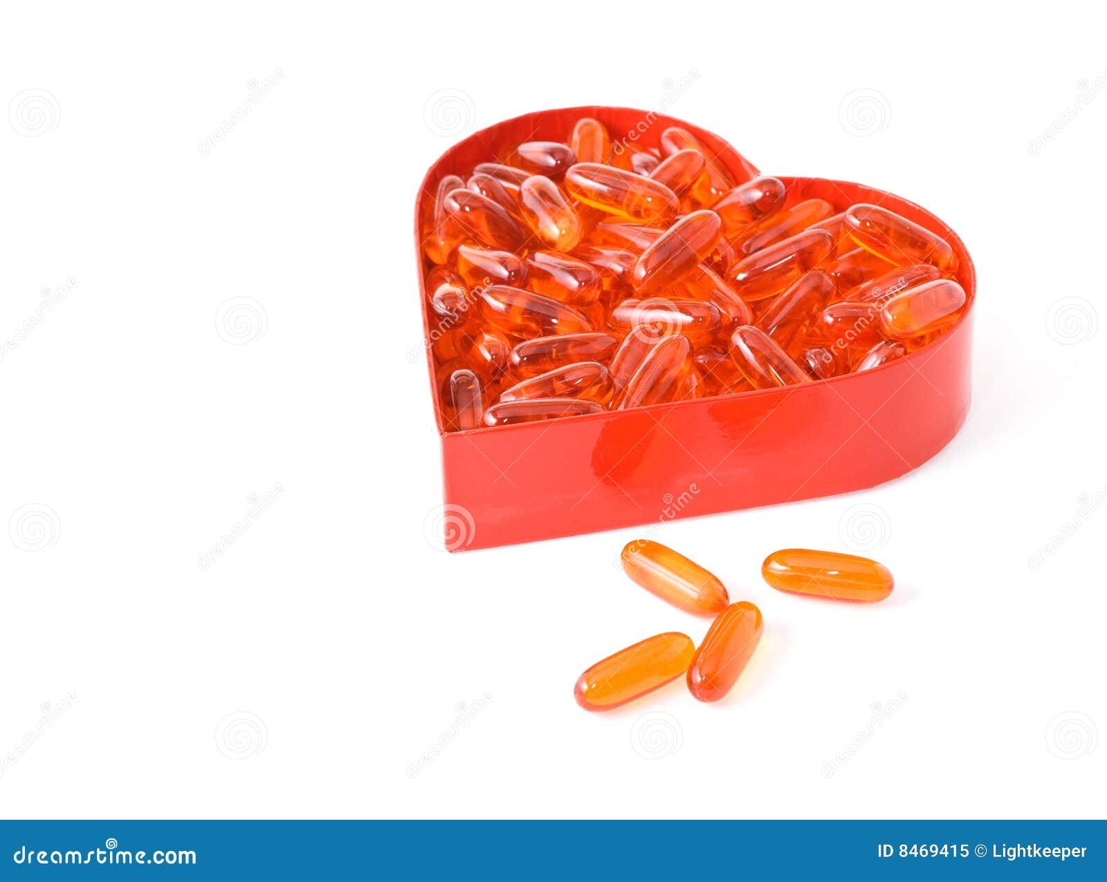 Formad red för pills för olja för askfiskhjärta