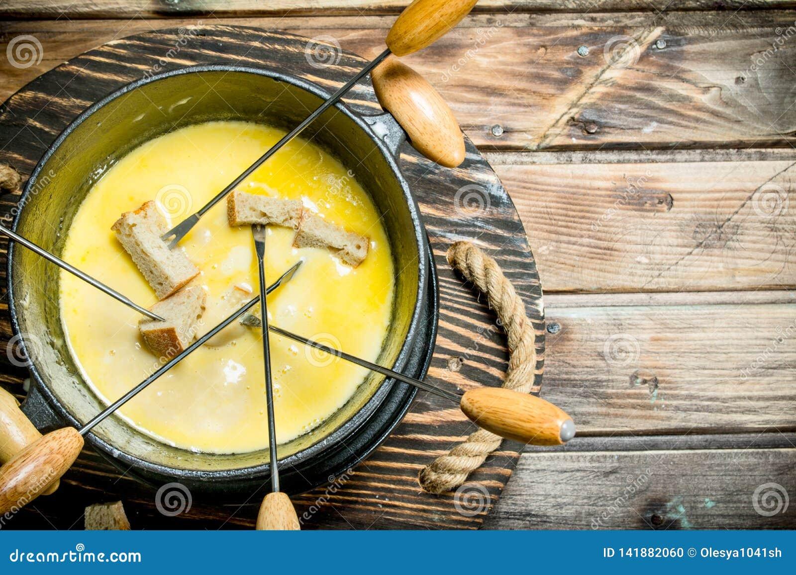 Formaggio delizioso della fonduta